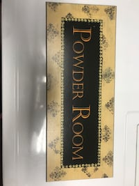 Wooden Powder Room Sign Vancouver, 98660