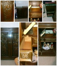 brown wooden cabinet collage Oroville, 95966