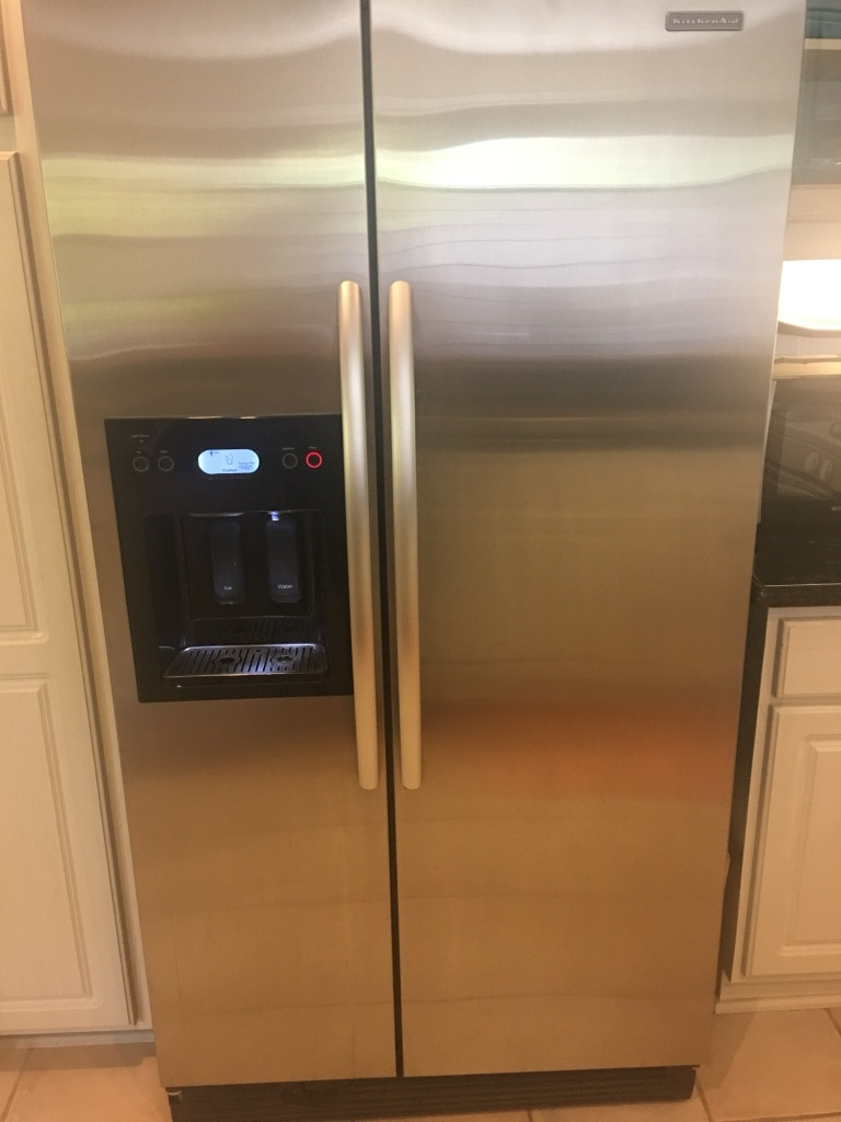 Genial KitchenAid Stainless Steel Side By Side Fridge Frzr KSRS25FTSS01