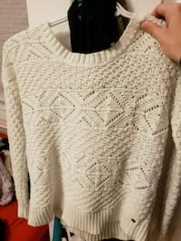 white knitted scoop-neck sweater 1299 km