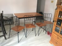 brown wooden table with chairs Montréal, H2X