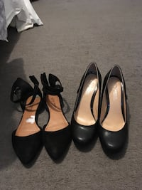 women's two pairs of black leather pumps Decatur, 30035
