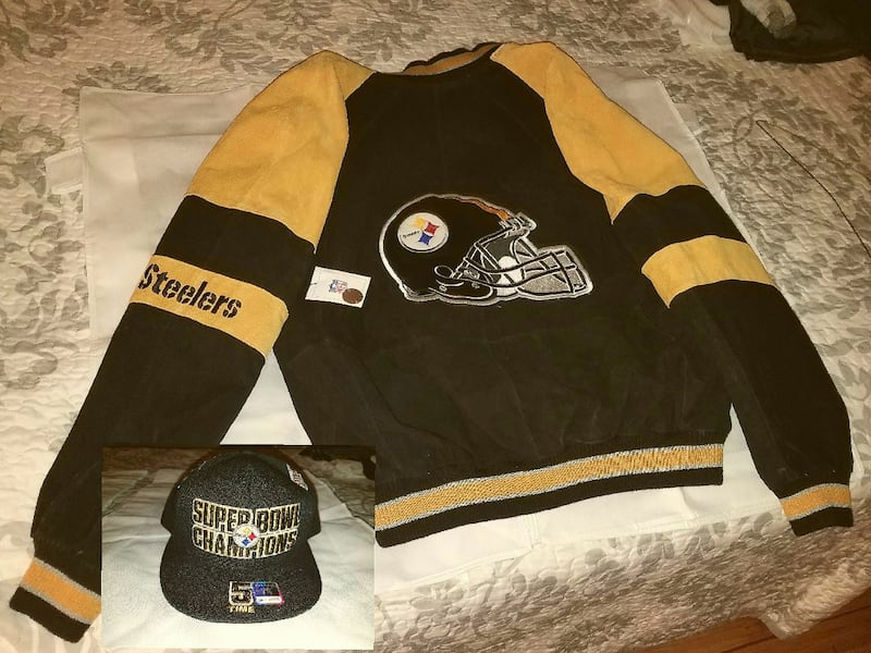 Pittsburgh Steelers XL Leather Jacket - new!   dc26ea7a-9ce4-4885-9804-8e0b526ff97c
