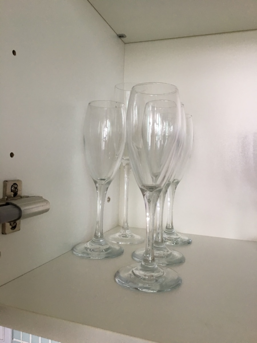 Assorted clear drinking glasses - Canada