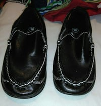 pair of black leather size 10 shoes!