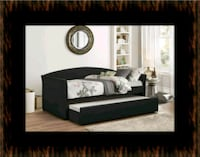 Black Daybed with mattress Laurel