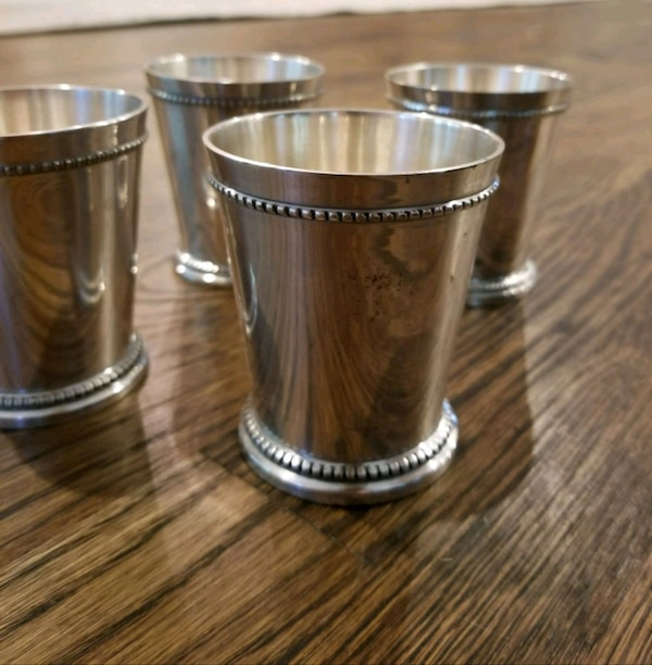 40 Silver-plated Mint Julep Cups