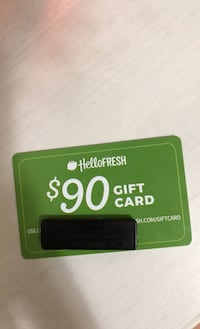 $90 hello fresh gift card