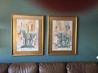 Two prints, matted and framed Calgary, T2W 4E1