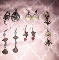 Hand made one of a kind earrings (surgical steel) Melbourne, 32940