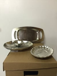 Pewter trays 10 each 25 for all