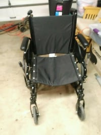 black and gray folding wheelchair Allentown, 18103