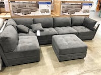 gray suede sectional sofa with ottoman Decatur, 30034