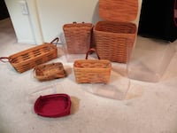 Longaberger Baskets and liners Alexandria