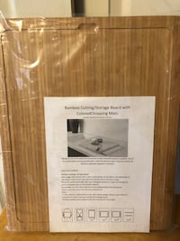 """New - Bamboo Cutting/Storage Board with Colored Chopping Mats 16.5 x 13.5"""" Baltimore, 21236"""