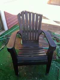 black wooden rocking chair with green and black pad Glen Burnie, 21061
