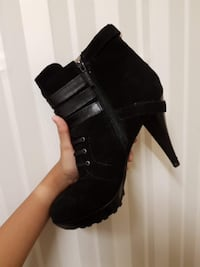 Black Nine West High Heel Boots SYDNEY