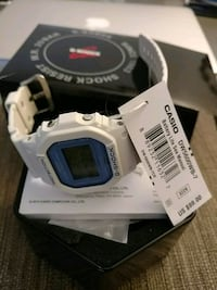 white and blue digital watch with box Santa Monica, 90405
