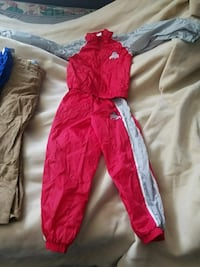red and white zip-up jacket and pants Huntsville, 43324