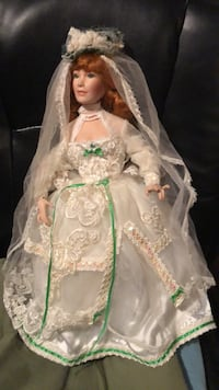 Porcelain wedding doll Pearl, 39208
