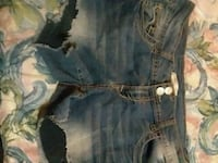 blue denim distressed short shorts Barstow, 92311
