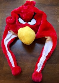 ~~Plush Red Angry Bird Character Winter Hat~~•••$8•••