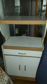 white and brown wooden cabinet Toronto, M1S 2J9