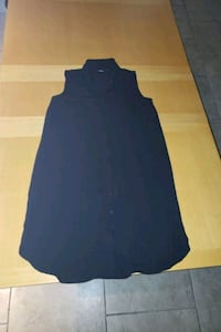 Black Button Up Dress With Collar Size Small.