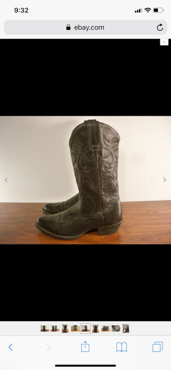 02ed63cdc22 Ariat #34770 Men's Deertan Leather Heritage Western R Toe Cowboy Boots Size  8.5