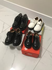 Brand new boys leather shoes with boxes