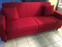 red fabric 3-seat sofa Edmonton, T5X 6B7