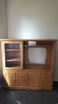 brown wooden TV hutch Edmonton, T5C 0A6