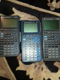 two black and gray Texas Instruments graphing calculators Springfield, 22152