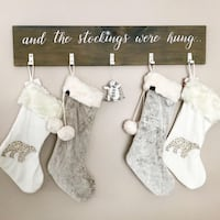 Christmas stocking holder Barrie, L4N 6Y5