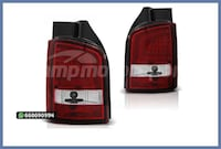 PILOTOS LED BAR ROJO/CROMO VW T5 03-09 MADRID
