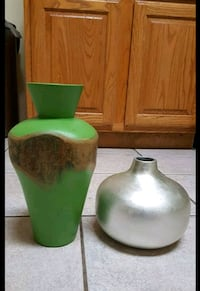 two green and white ceramic vases McKinney, 75070