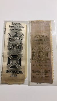 collectable  vintage Knights Templar sashes. Urbana, 61801