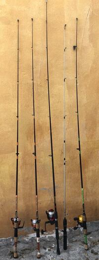 Four black and brown fishing rods Alamo, 78516