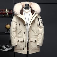 DUNO VOGUE MAPE FAUX FUR COLLAR DUCK DOWN HOODED JACKET