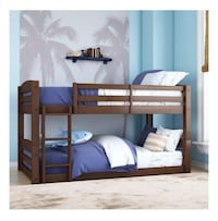 New inbox twin over twin bunk bed No mattress included