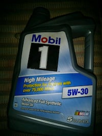 black and gray Mobil 1 5W-30 bottle Milwaukee, 53204