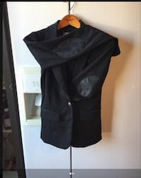 Brand new Dynamite Black blazer with leather patch in small