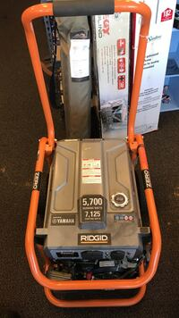 gray and black Ridgid portable generator Hagerstown, 21740