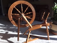 Antique spinning wheel. Excellent condition. $150 OBO.  Pick up only. Moving sale - please check out my other ads!
