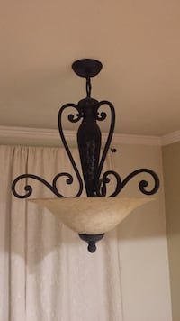 Black metal base with glass lampshade pendant lamp Los Angeles, 91606