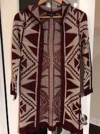 Beige and Maroon Patterned Cardigan Mississauga, L5B