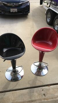 Two red leather padded bar stools Oxnard, 93036