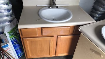 30 inch vanity with White ceramic sink with faucet!!!