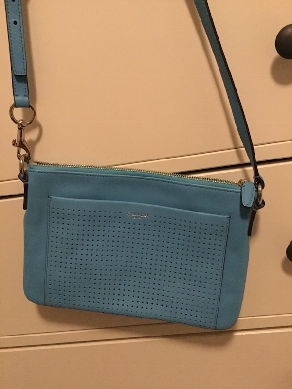 Mint condition - Coach turquoise crossbody bag