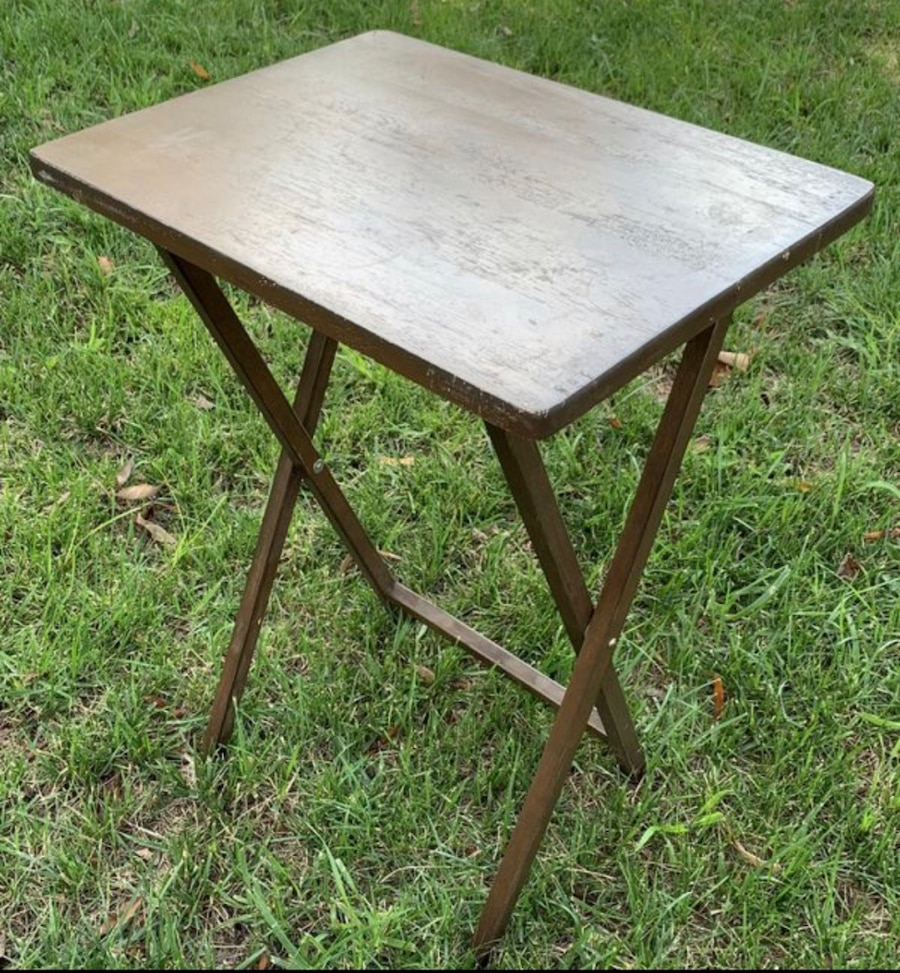 Wood Folding Foldable Accent Side Table Plant Stand